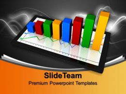 Bar And Line Graphs Success Growth Powerpoint Templates Themes