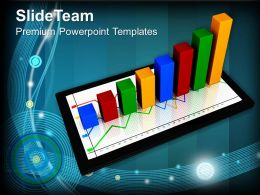 Bar And Line Graphs With Business Powerpoint Templates Themes