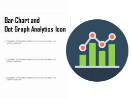 Bar Chart And Dot Graph Analytics Icon