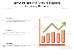Bar Chart Icon With Arrow Highlighting Increasing Revenue