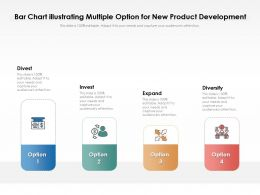 Bar Chart Illustrating Multiple Option For New Product Development