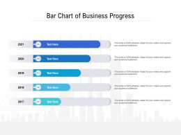 Bar Chart Of Business Progress