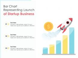 Bar Chart Representing Launch Of Startup Business
