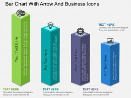 bar_chart_with_arrow_and_business_icons_flat_powerpoint_design_Slide01