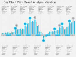 Bar Chart With Result Analysis Variation Flat Powerpoint Design