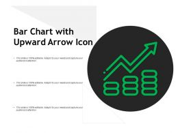 Bar Chart With Upward Arrow Icon