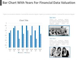 Bar Chart With Years For Financial Data Valuation Powerpoint Slides