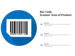 Bar Code Scanner Icon Of Product