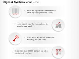 Bar Code Shopping Bags Key Ppt Icons Graphics