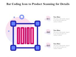 Bar Coding Icon To Product Scanning For Details