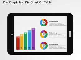 Bar Graph And Pie Chart On Tablet Flat Powerpoint Design