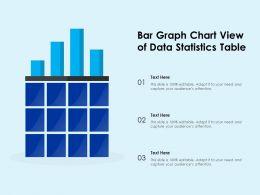 Bar Graph Chart View Of Data Statistics Table