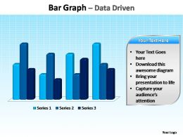 bar graph data driven editable powerpoint templates