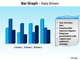 bar graph data driven editable powerpoint templates