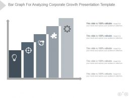 Bar Graph For Analyzing Corporate Growth Presentation Template