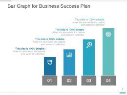 Bar Graph For Business Success Plan Presentation Diagram