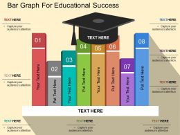 Bar Graph For Educational Success Flat Powerpoint Design