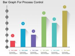 Bar Graph For Process Control Flat Powerpoint Design