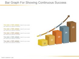 Bar Graph For Showing Continuous Success Example Of Ppt