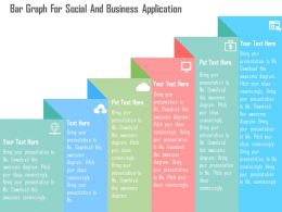 Bar Graph For Social And Business Application Flat Powerpoint Design