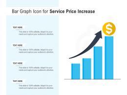Bar Graph Icon For Service Price Increase