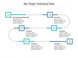 Bar Graph Individual Data Ppt Powerpoint Presentation File Elements Cpb