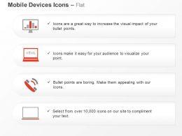 Bar Graph Laptop Phone Communication Ppt Icons Graphics