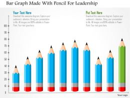 Bar Graph Made With Pencil For Leadership Flat Powerpoint Design