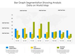 Bar Graph Segmentation Showing Analysis Data On World Map