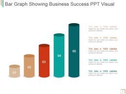 Bar Graph Showing Business Success Ppt Visual