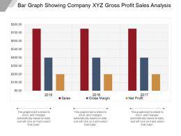 Bar Graph Showing Company Xyz Gross Profit Sales Analysis