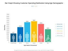 Bar Graph Showing Customer Spending Distribution Using Age Demographic