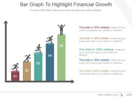 Bar Graph To Highlight Financial Growth Good Ppt Example