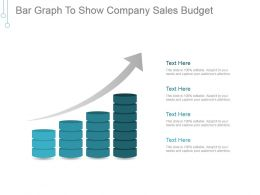 Bar Graph To Show Company Sales Budget Example Of Ppt