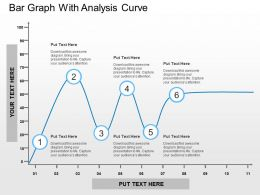 Bar Graph With Analysis Curve Flat Powerpoint Design