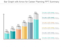 Bar Graph With Arrow For Career Planning Ppt Summary