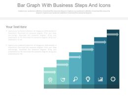 Bar Graph With Business Steps And Icons Powerpoint Slides