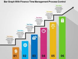 Bar Graph With Finance Time Management Process Control Flat Powerpoint Design