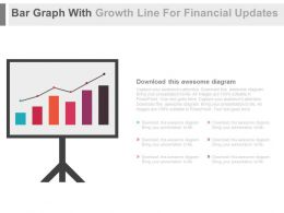 Bar Graph With Growth Line For Financial Updates Powerpoint Slides