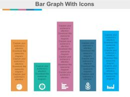 Bar Graph with Icons For Business Analysis Powerpoint Slides