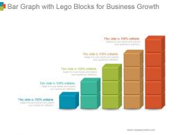 Bar Graph With Lego Blocks For Business Growth Powerpoint Slide Show