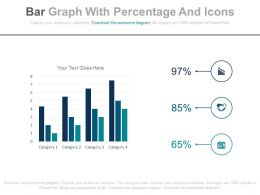 Bar Graph With Percentage And Icons Powerpoint Slides