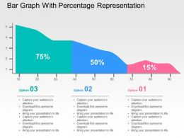 Bar Graph With Percentage Representation Flat Powerpoint Design