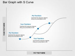 Bar Graph With S Curve Flat Powerpoint Design