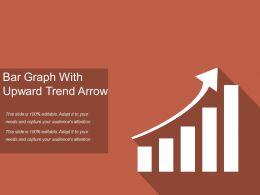 Bar Graph With Upward Trend Arrow
