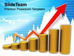 Bar Graphs And Pictographs Growth Money Powerpoint Templates Themes