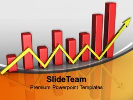 Bar Graphs And Pie Charts Arrow Business Powerpoint Templates Themes