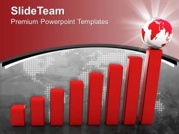 Bar Graphs And Pie Charts Success Powerpoint Templates Themes