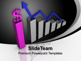 Bar Graphs Pictures Dollar Finance Powerpoint Templates And Themes