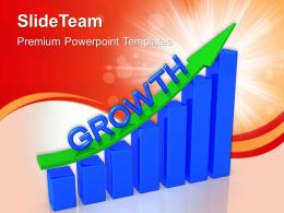 Bar Graphs Powerpoint Growth Statistics Templates And Themes